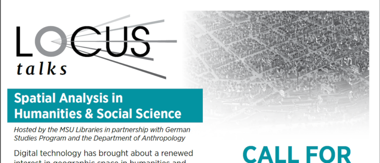 LOCUS: Spatial Humanities & Social Science, CFP EXTENDED to 2/10