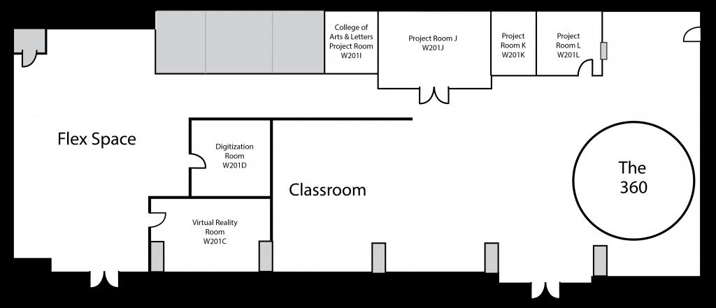 Map of the Digital Scholarship Lab