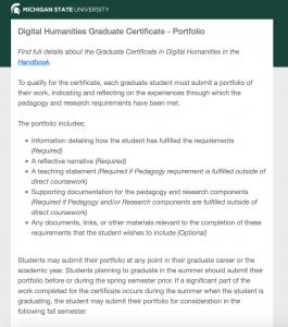 Screenshot of Certificate Portfolio  homepage