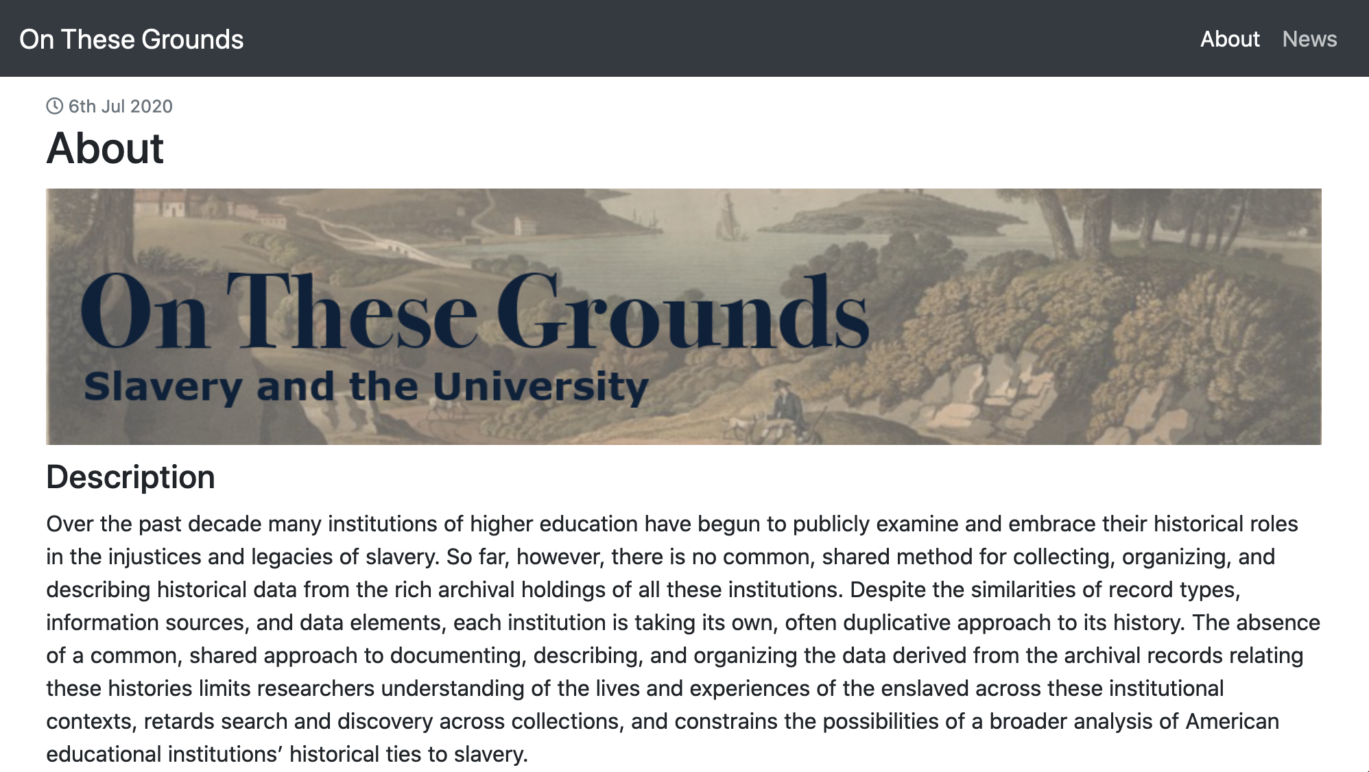 On These Grounds: Slavery and the University